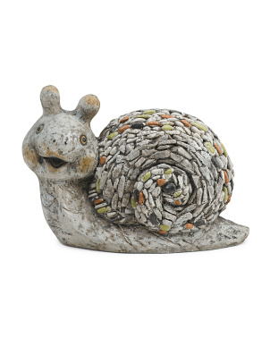 Happy Snail Garden Statue