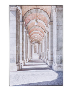 25x37 Framed View Of Colonnade Spain Recolor Wall Art