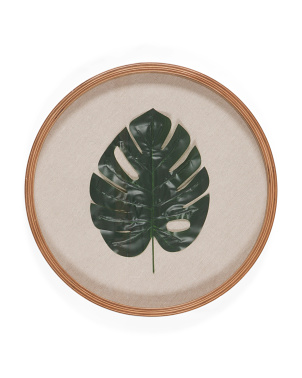 16in Monstera Palm Wall Art