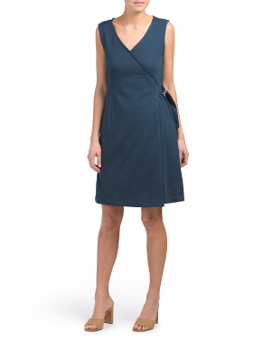 Sleeveless V-neck Wrap Dress