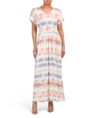Juniors Tie Dye Long Maxi Dress