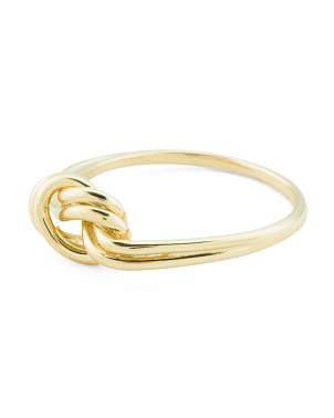 Made In Italy 14k Gold Love Knot Ring