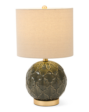 Ceramic Round Table Lamp