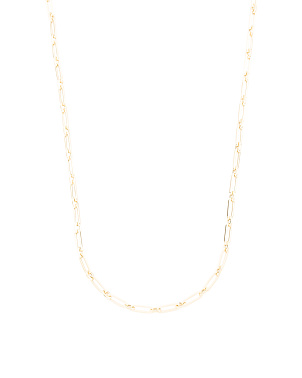 Made In Italy 14k Short And Long Link Chain Necklace