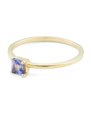 Made In India 14k Gold Tanzanite Stacking Ring