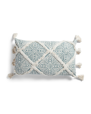 16x26 Aztec Printed Overtuft Pillow
