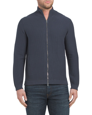 Dellen Breach Zip Front Cardigan