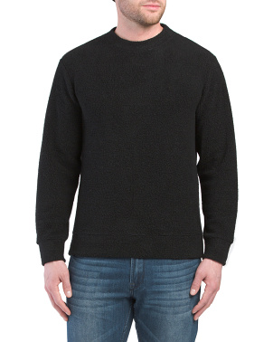 Made In Usa Wool And Cashmere Blend Textured Sweater
