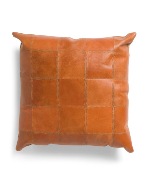 20x20 Leather Square Pillow