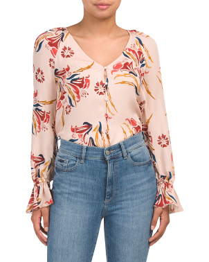 Boyana Silk Floral Top