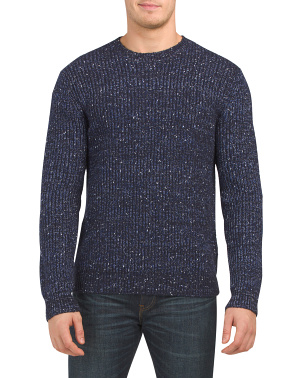 Pierre Flecked Crew Neck Sweater