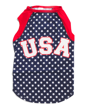 Usa Stars Raglan Dog Tank Top