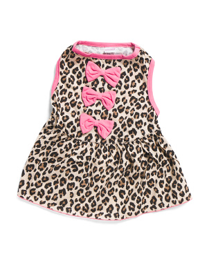 Animal Print Dog Bow Dress