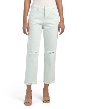 Wynne High Rise Crop Straight Leg Jeans