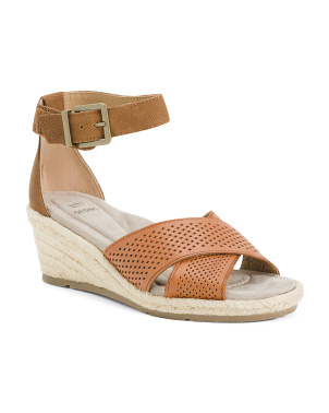 Comfort Espadrille Leather Sandals