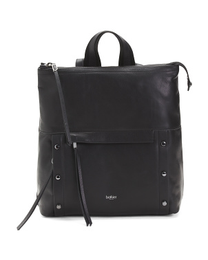 Noho Leather Backpack With Hardware Detail