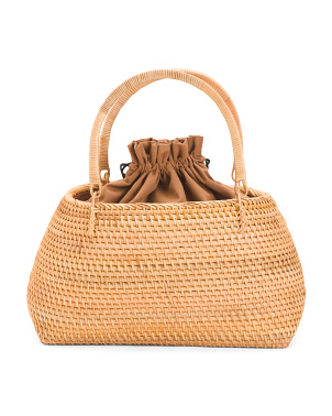 Handwoven Wicker Satchel