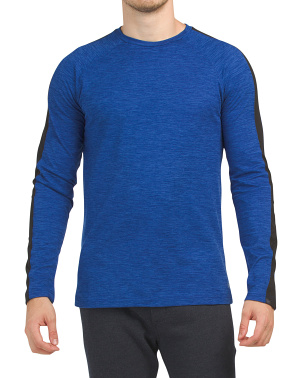 Power Long Sleeve Space Dye Top
