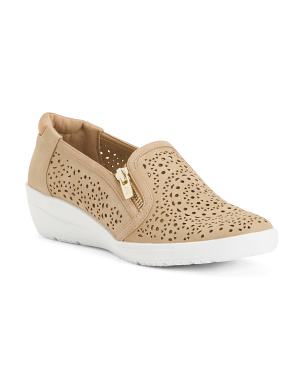 Comfort Wedge Slip On Sneakers