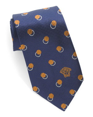 Made In Italy Printed Silk Tie