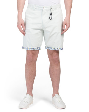 Flat Front Twill Shorts