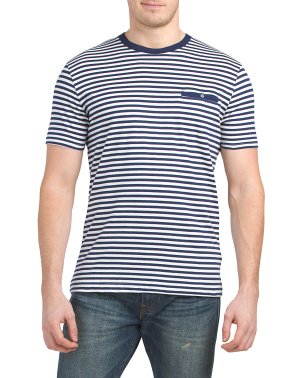 Striped Shirt With Button Pocket