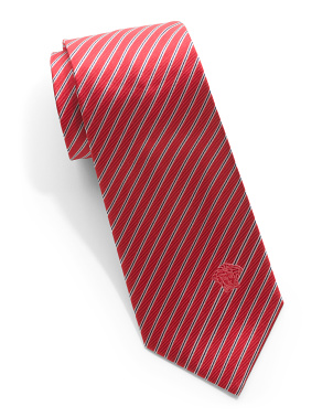 Made In Italy Silk Striped Tie