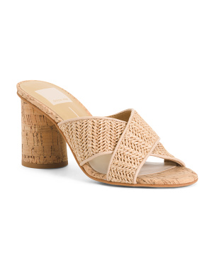 Cork Heel Natural Sandals
