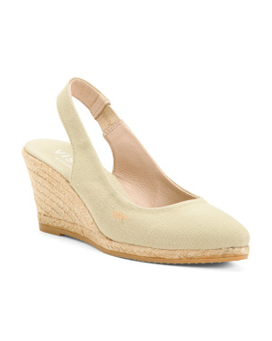 Made In Spain Canvas Espadrille Wedges