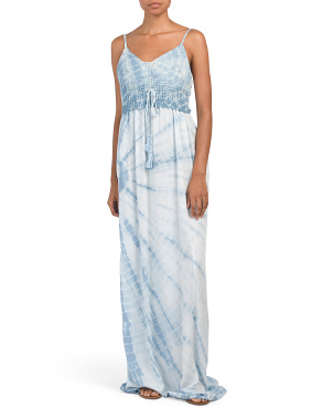 Boho Tie Dye Cover-up Maxi Dress
