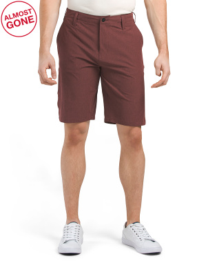 Flat Front Multifunctional Stretch Solid Shorts