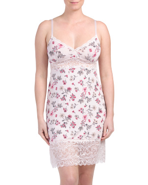 Micro Floral Lace Chemise