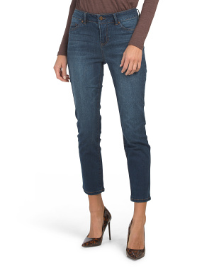 High Waist Straight Leg Ankle Jeans