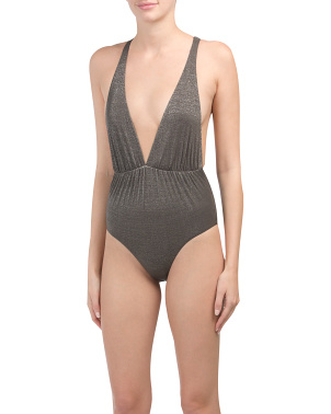 Made In Usa Stella Metallic One-piece Swimsuit
