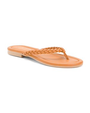 Made In Italy Braided Thong Sandals