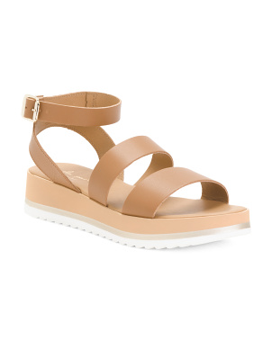 Made In Italy Leather Platform Sandals
