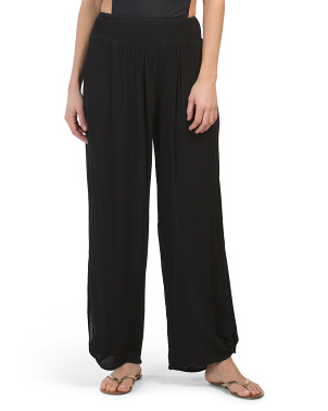 Crepe Cover-up Pants