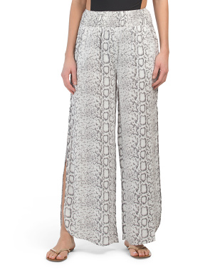Snake Print Cover-up Pants