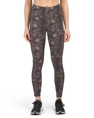 High Waist Core Strength Snake Print Leggings