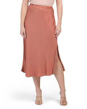 Felicity Satin Slip Skirt