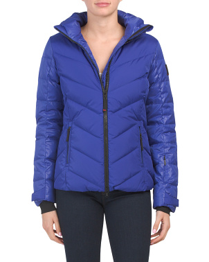 Sassy Puffer Style Ski Coat With Removable Hood