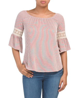 Juniors Made In Usa Three-quarter Sleeve Knit Top