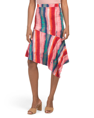 Juniors Printed Midi Skirt