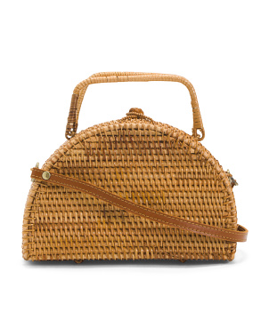 Half Moon Rattan Crossbody