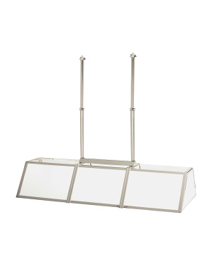 Berling Billiard Light In Polished Nickel And White Glass