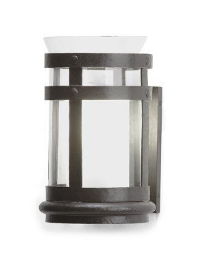 Corbett Small Smoke Bell Sconce In Aged Iron
