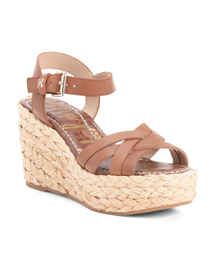 Braided Jute Wedge Sandals