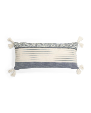 14x30 Afton Stripe Tassel Pillow