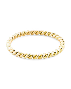 Made In Spain 14k Gold Twisted Band Ring