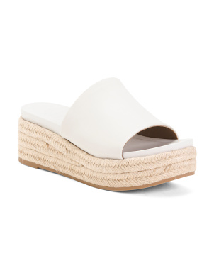 Flatform Leather Espadrilles